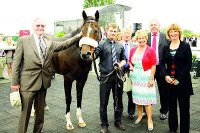 Owners Syndicate winning at Southwell Racecourse