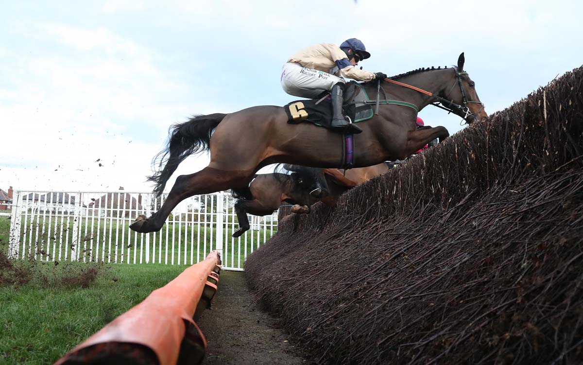 Sheriff soars over the open ditch at Carlisle