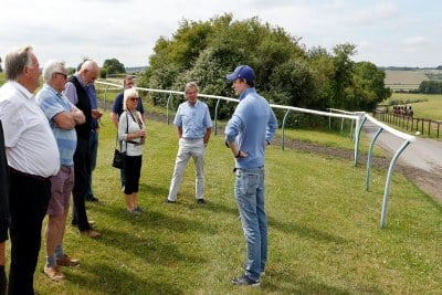 Archie Watson With Owners on Gallops
