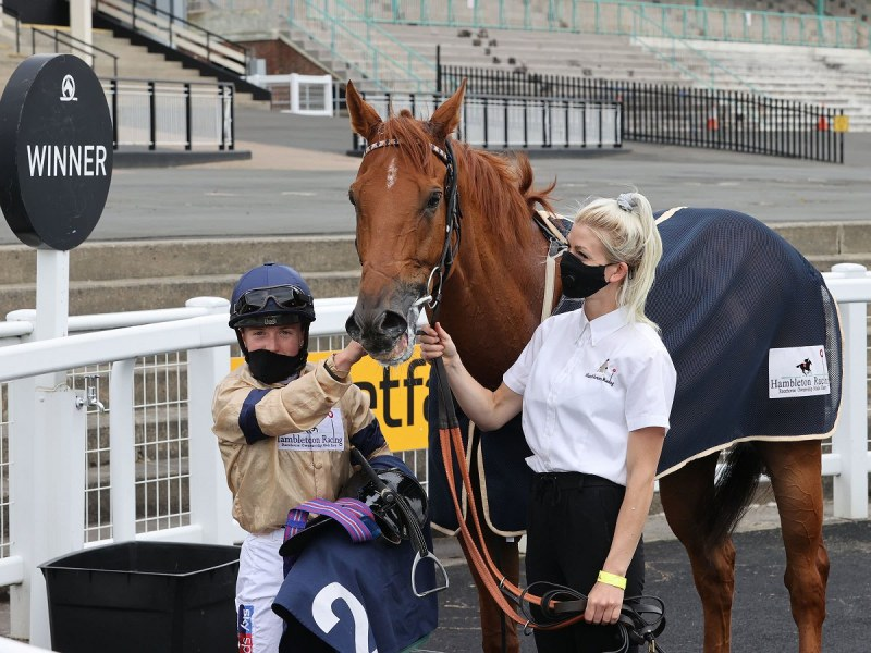 GLEN SHIEL (Hollie Doyle) wins at NEWCASTLE 27/6/20Photograph by Grossick Racing Photography 0771 046 1723