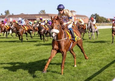 MAGICAL SPIRIT (Kevin Stott) wins the QTS SILVER CUP at AYR 19/9/20 Photograph by Grossick Racing Photography 0771 046 1723
