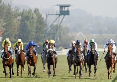 MAYSTAR (3rd right, Hollie Doyle) wins The Prix Moonlight Cloud Deauville 9 Aug 2020 - Pic Steven Cargill / Racingfotos.com