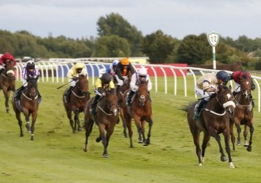 STARS IN THE NIGHT and Kevin Stott win the New Sporting Life App Maiden Stakes Trained by Kevin Ryan Owned by Hambleton Racing Ltd XVI Catterick Racecourse 22nd July 2020 Pic Louise Pollard